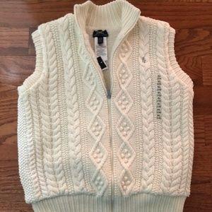 Ralph Lauren  zip up faux fur lining vest. Size XL